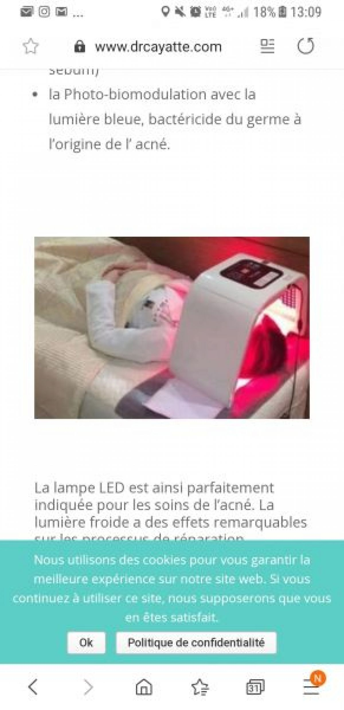 luminothérapie à Ronchin (59) Par Anne - Estheca